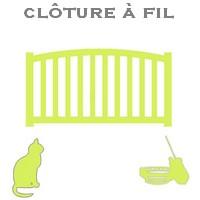 clôture à fil chat