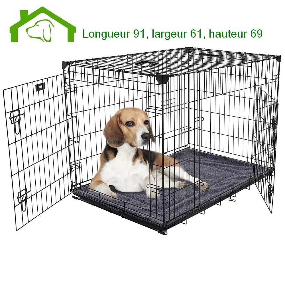 Cage Metallique D Interieur Pour Moyen Chien L91xl61xh69 Lucky Dog Ezoo Shop