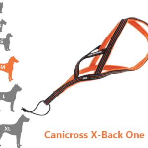 Harnais Canicross X-Back One pour moyen chien
