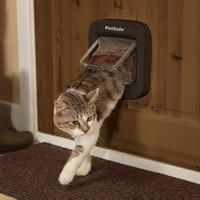 Chatière avec puce électronique chat